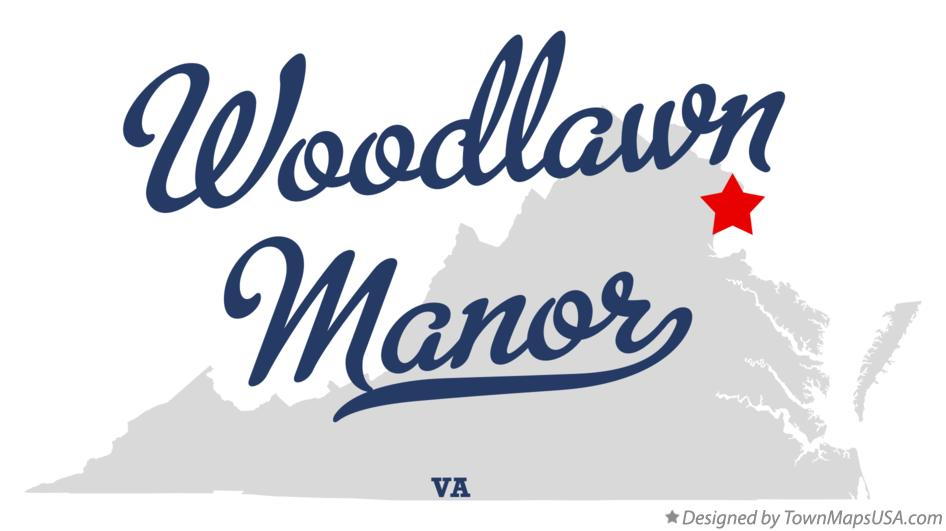 Map of Woodlawn Manor Virginia VA