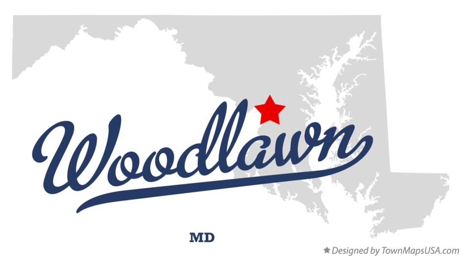 Map of Woodlawn Maryland MD