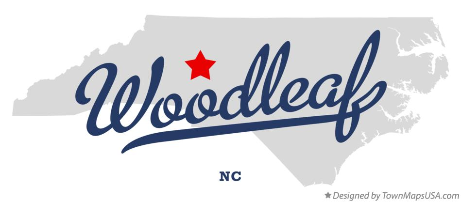 Map of Woodleaf North Carolina NC