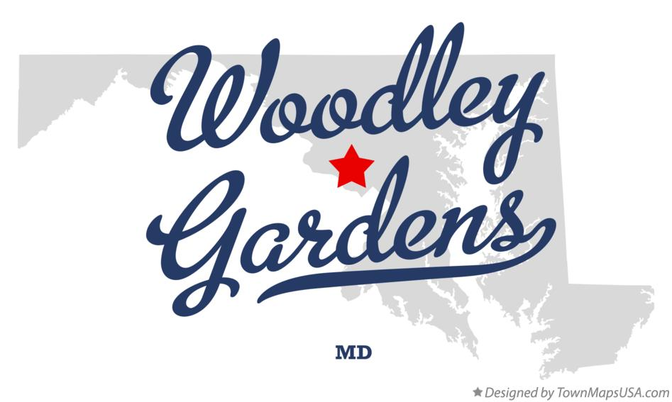 Map of Woodley Gardens Maryland MD