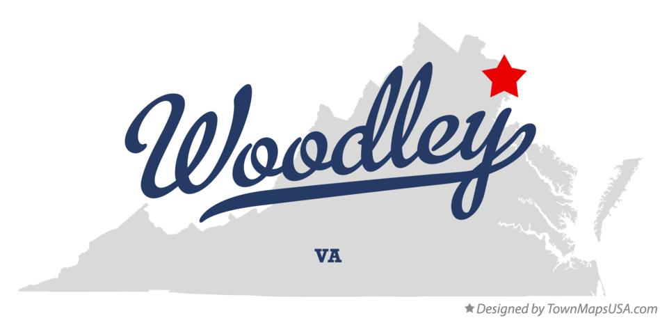 Map of Woodley Virginia VA