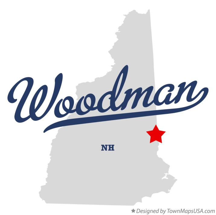 Map of Woodman New Hampshire NH
