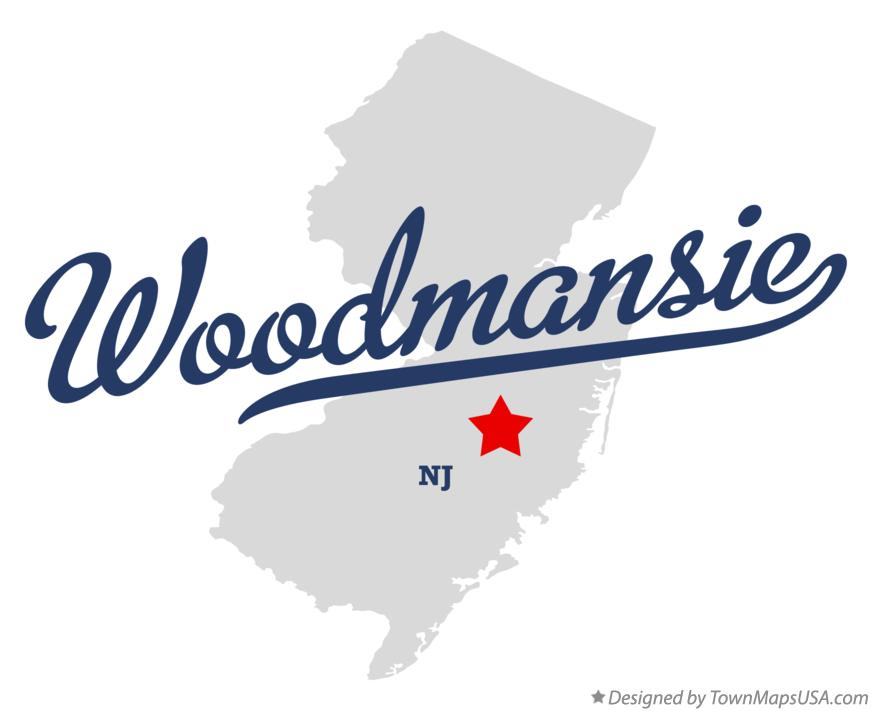 Map of Woodmansie New Jersey NJ