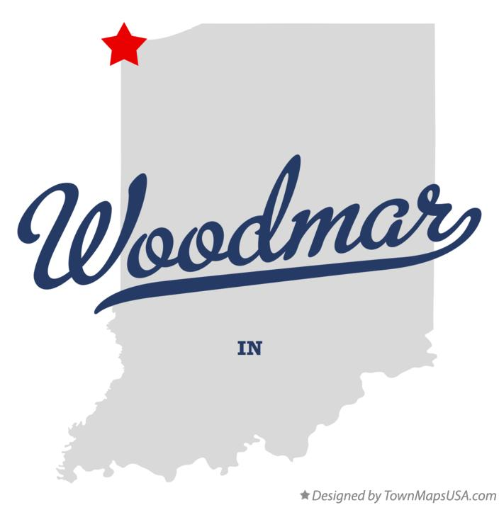 Map of Woodmar Indiana IN
