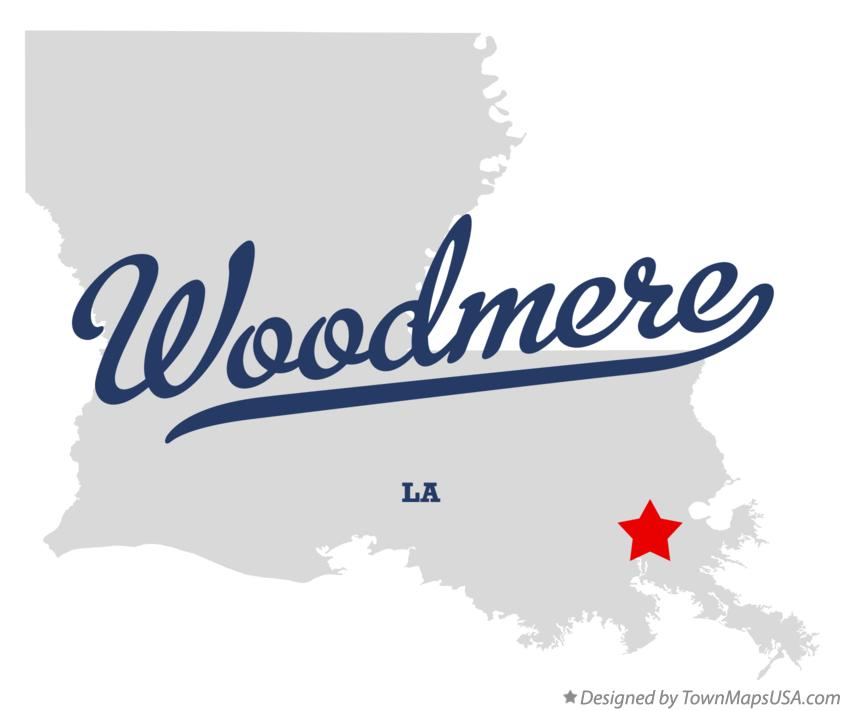 Map of Woodmere Louisiana LA
