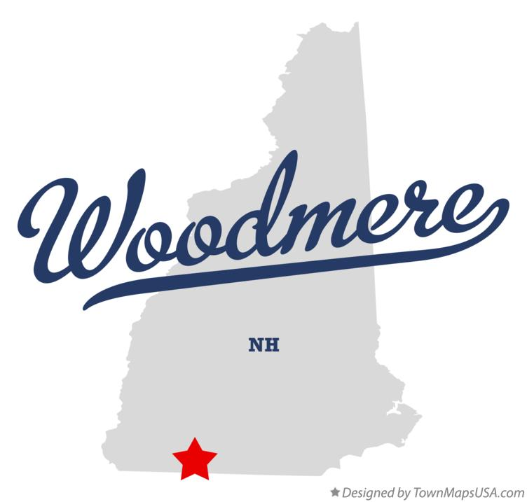 Map of Woodmere New Hampshire NH