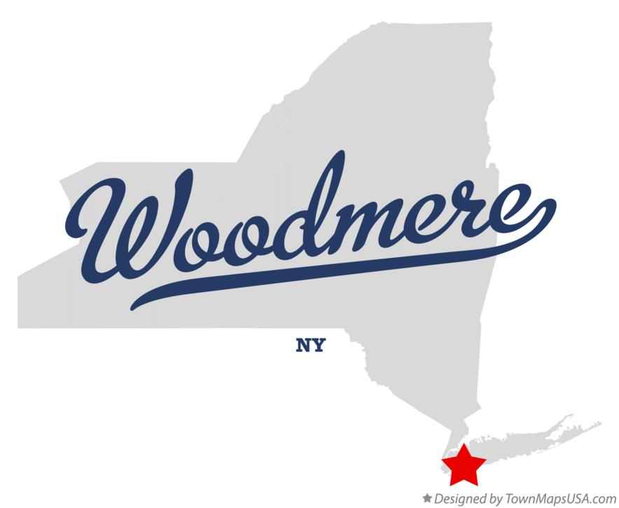 Map of Woodmere New York NY