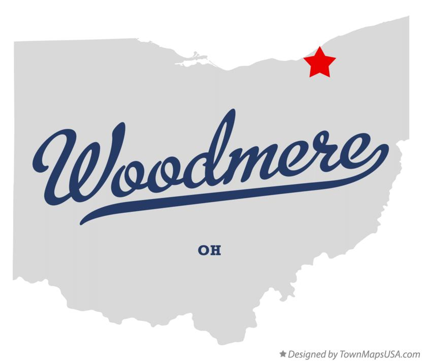 Map of Woodmere Ohio OH