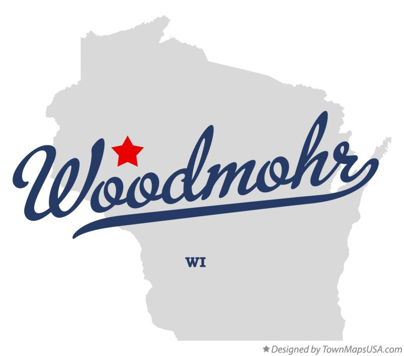 Map of Woodmohr Wisconsin WI