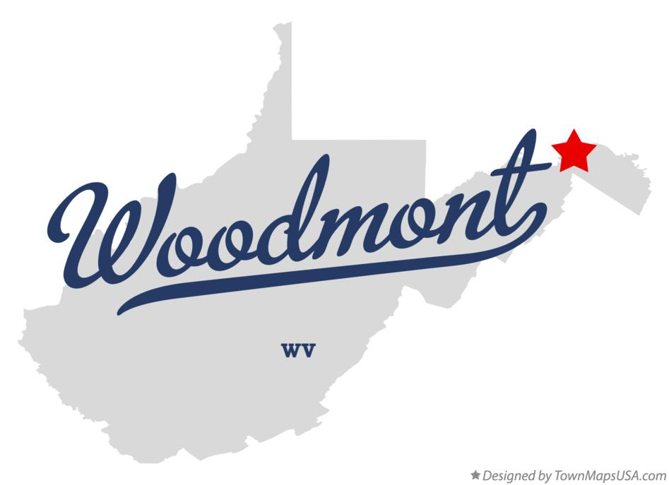 Map of Woodmont West Virginia WV