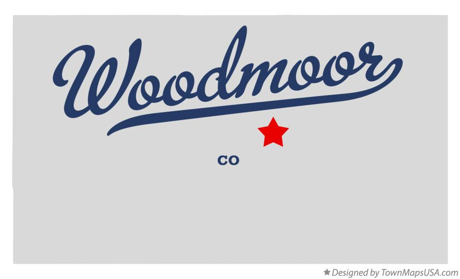Map of Woodmoor Colorado CO
