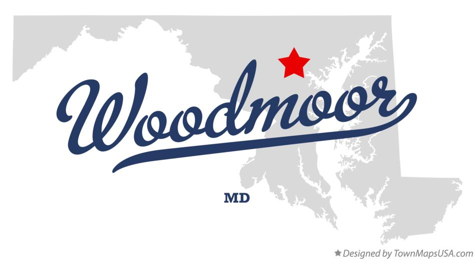 Map of Woodmoor Maryland MD