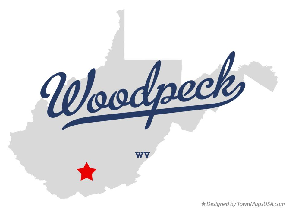 Map of Woodpeck West Virginia WV
