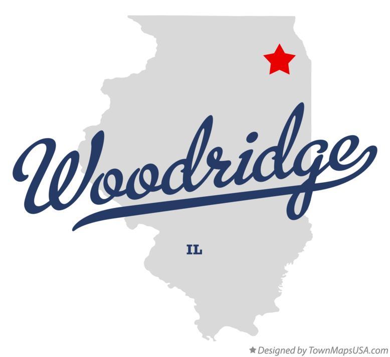 Map of Woodridge, IL, Illinois