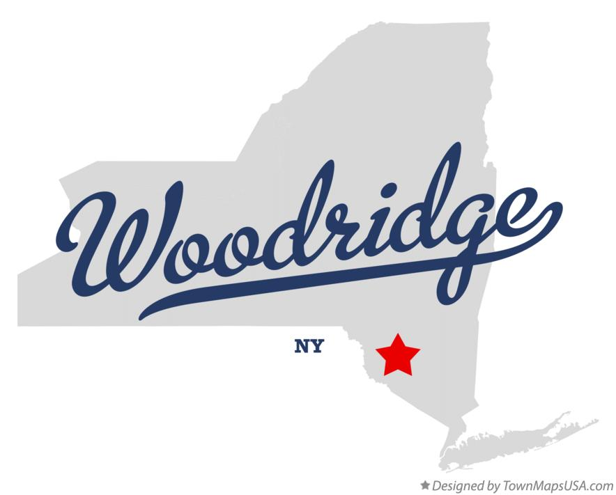 Map of Woodridge New York NY