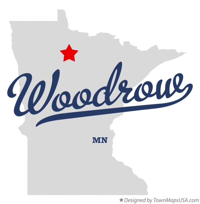 Map of Woodrow Minnesota MN