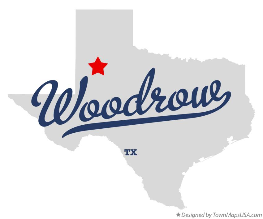 Map of Woodrow Texas TX