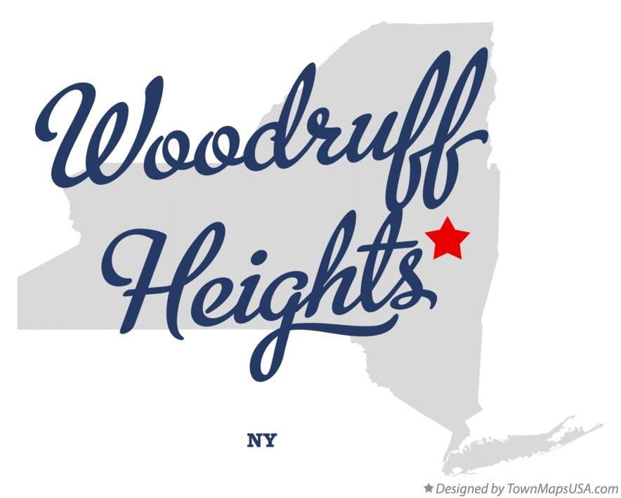 Map of Woodruff Heights New York NY