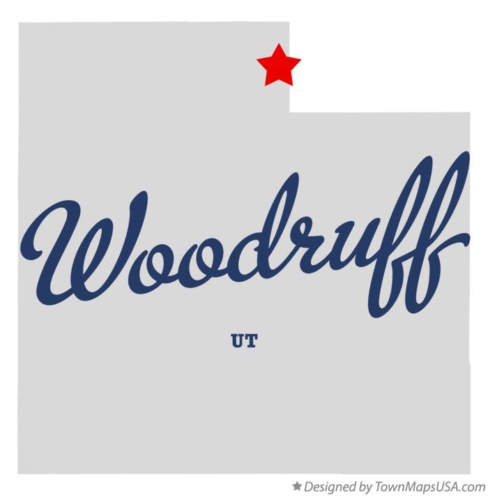 Map of Woodruff Utah UT