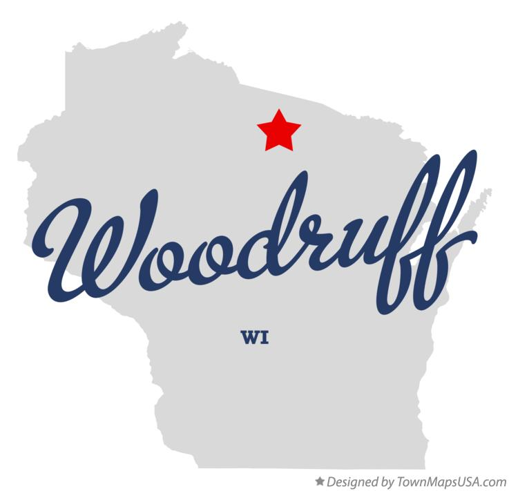 Map of Woodruff Wisconsin WI