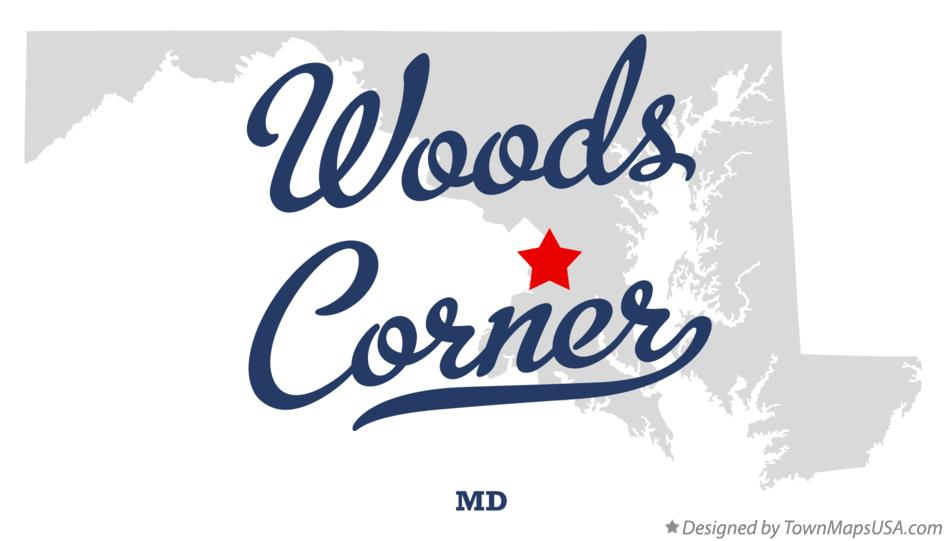 Map of Woods Corner Maryland MD