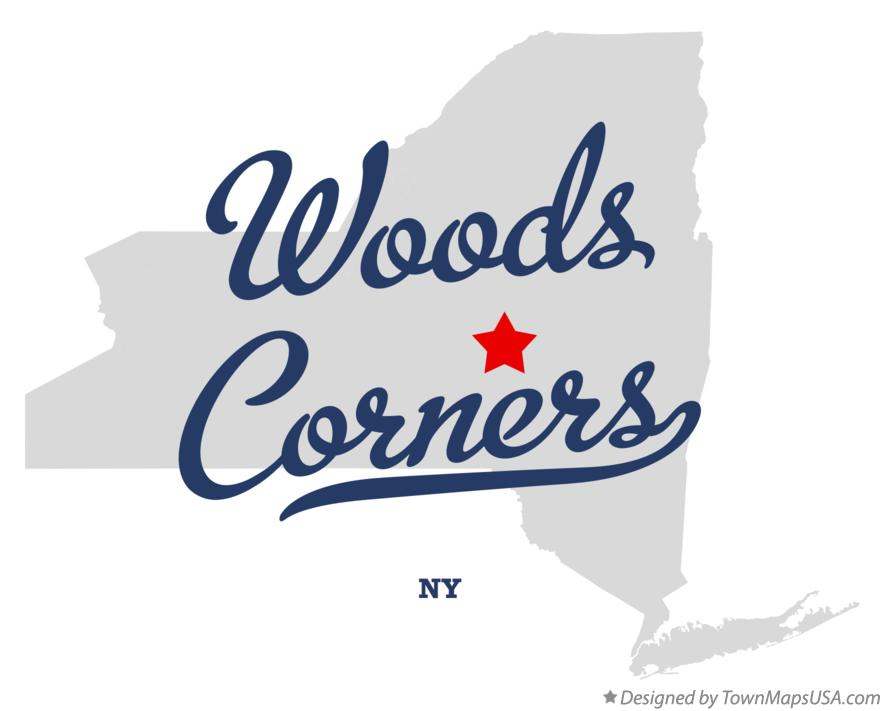 Map of Woods Corners New York NY
