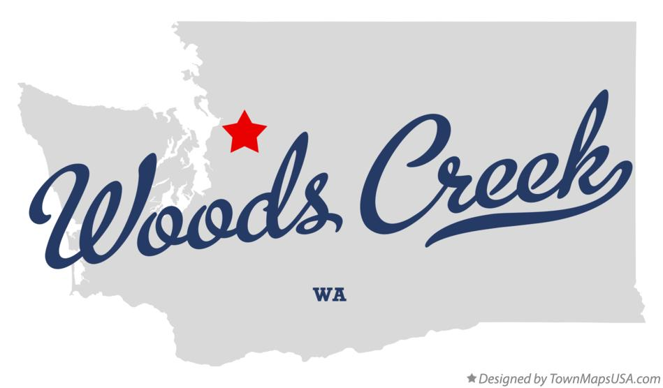 Map of Woods Creek Washington WA