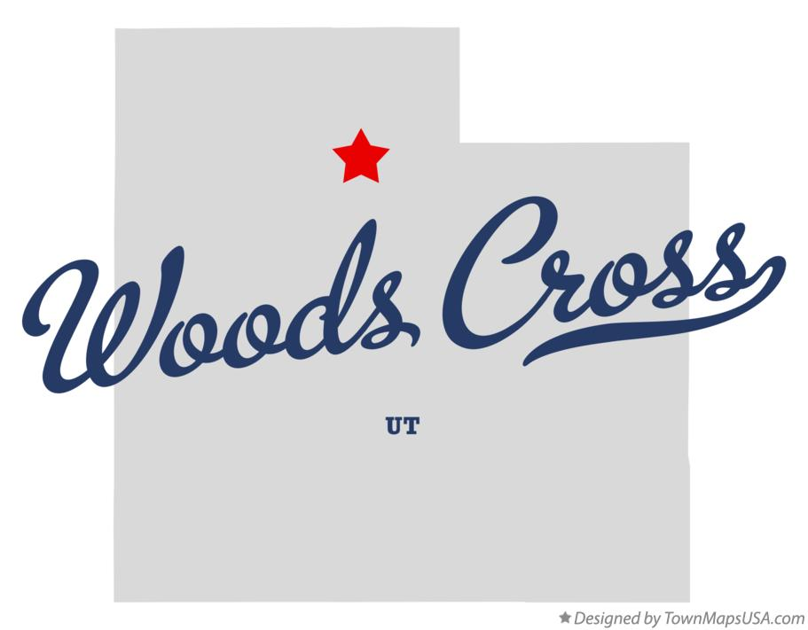 Map of Woods Cross Utah UT