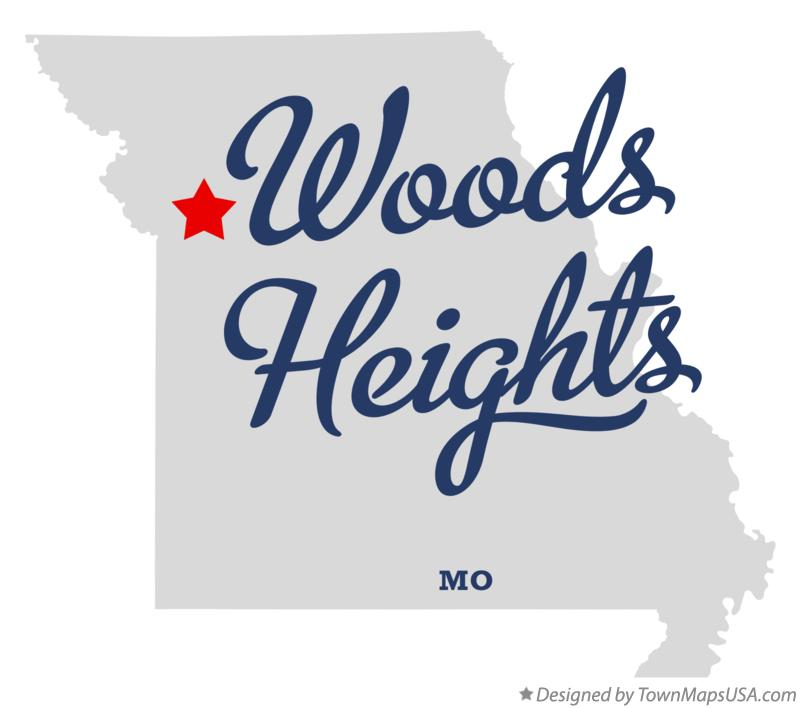 Map of Woods Heights Missouri MO