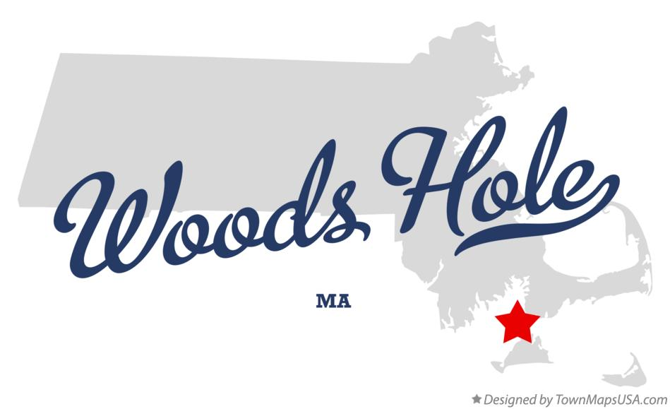 Map of Woods Hole Massachusetts MA