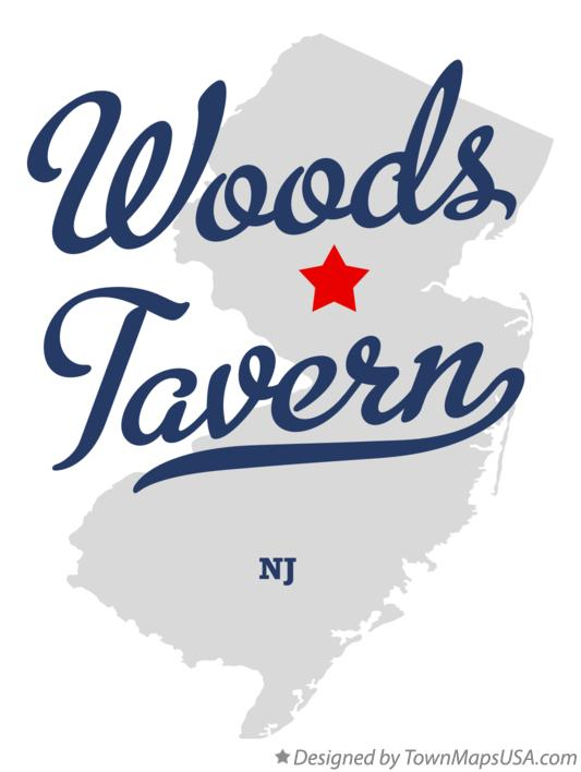 Map of Woods Tavern New Jersey NJ