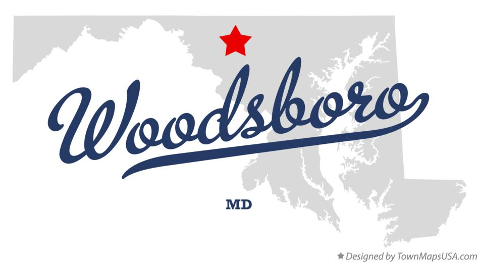 Map of Woodsboro Maryland MD