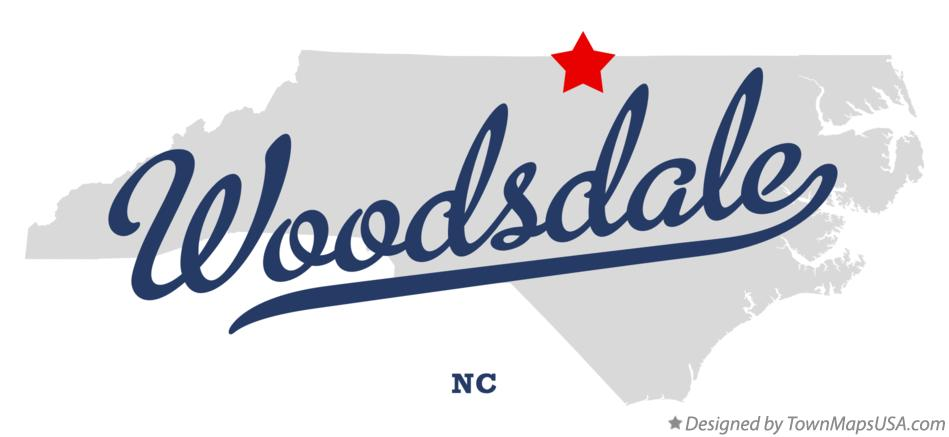 Map of Woodsdale North Carolina NC