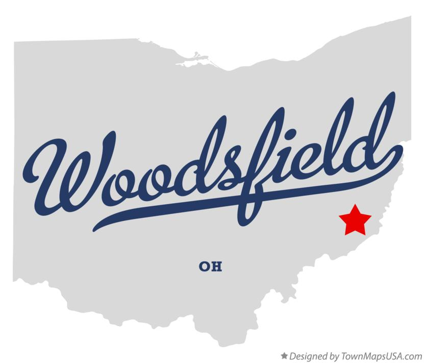 Map of Woodsfield Ohio OH