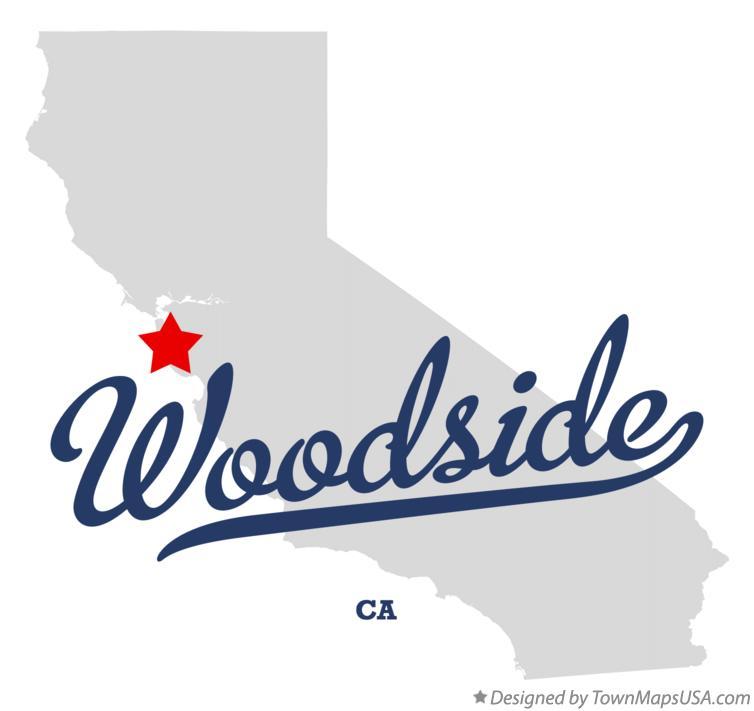Map Of Woodside Ca California