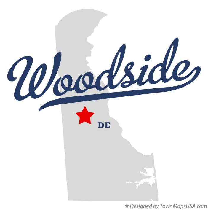 Map of Woodside Delaware DE