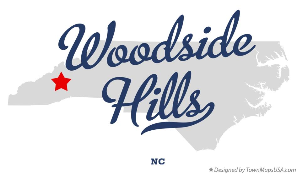 Map of Woodside Hills North Carolina NC