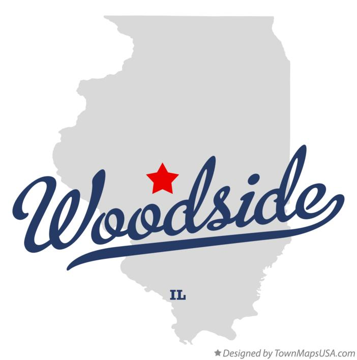 Map of Woodside Illinois IL