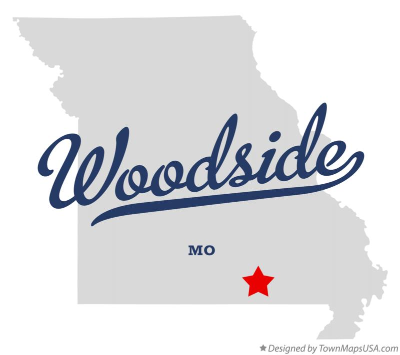 Map of Woodside Missouri MO