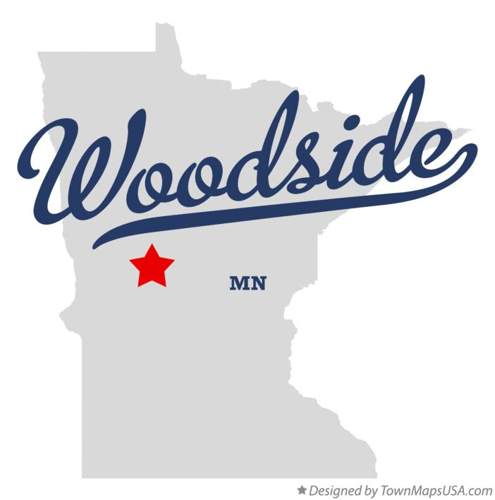 Map of Woodside Minnesota MN