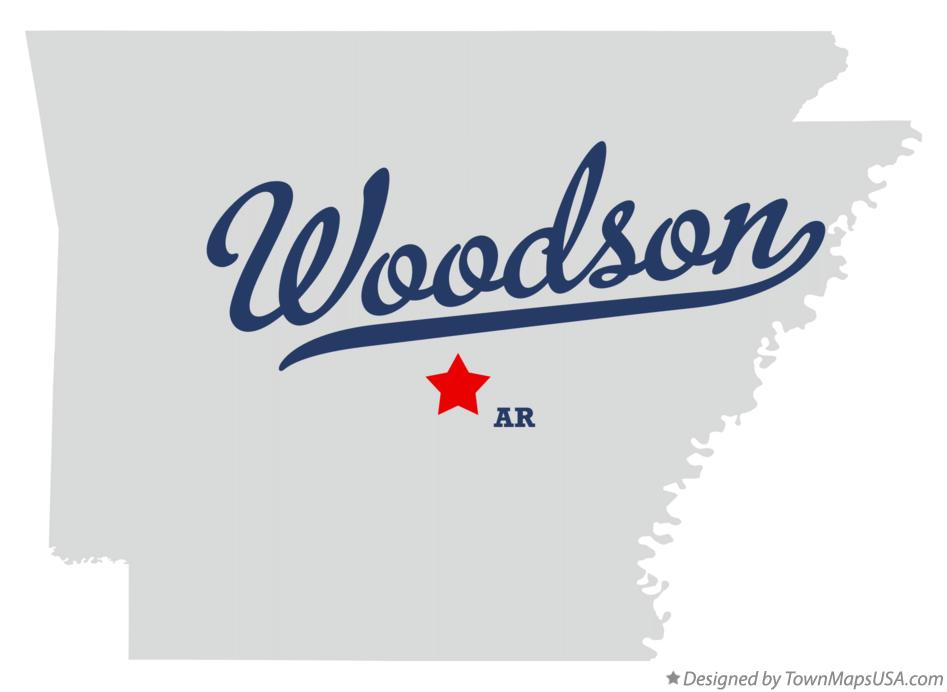 Map of Woodson Arkansas AR