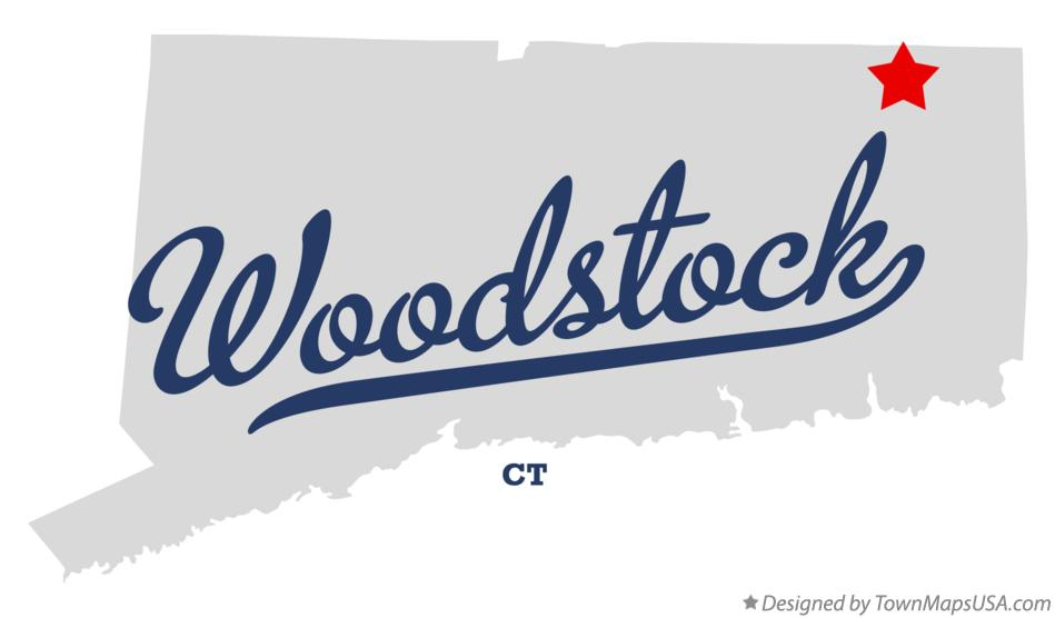Map of Woodstock Connecticut CT