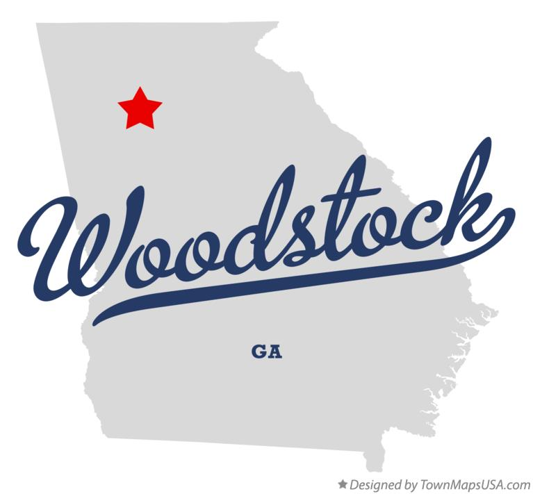 Austell Georgia Map Map of Woodstock Georgia ga