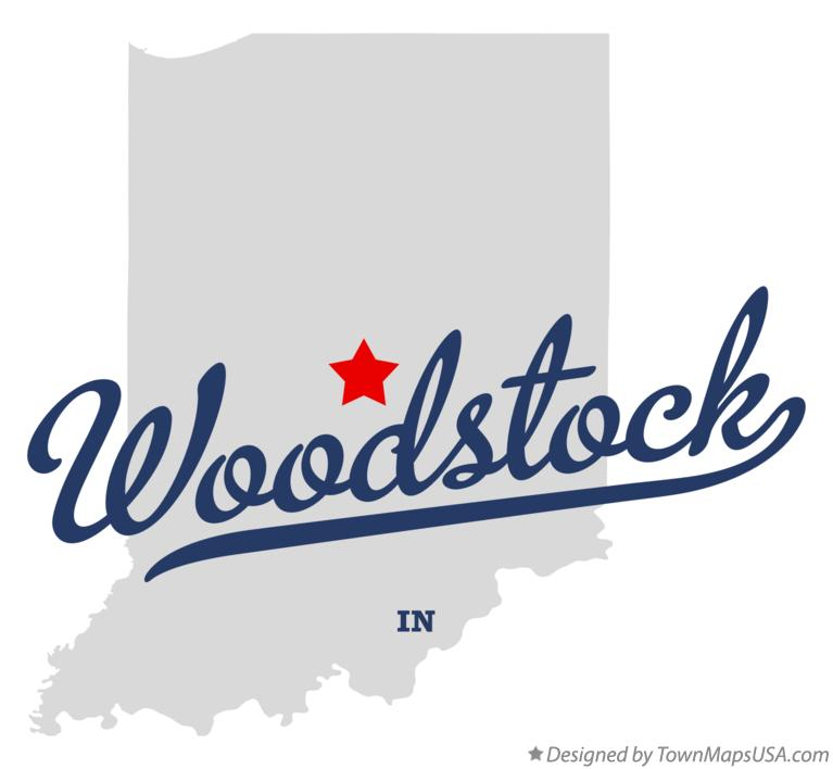 Map of Woodstock Indiana IN