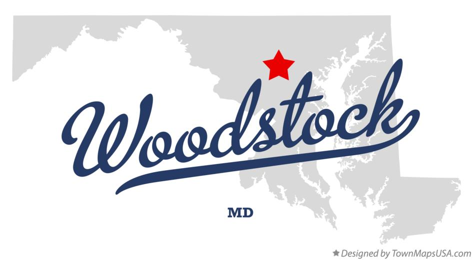 Map of Woodstock Maryland MD