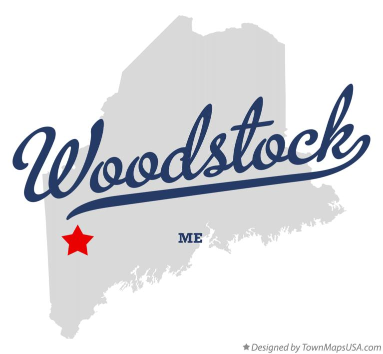 Map of Woodstock Maine ME