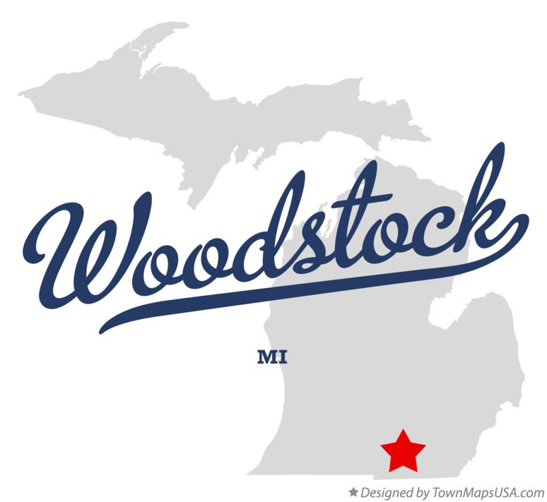 Map of Woodstock Michigan MI
