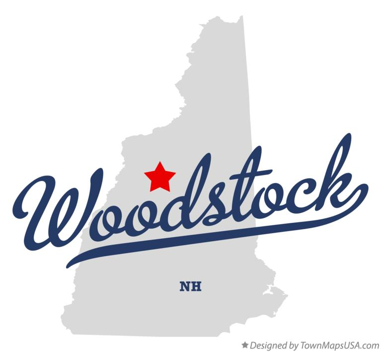 Map of Woodstock New Hampshire NH