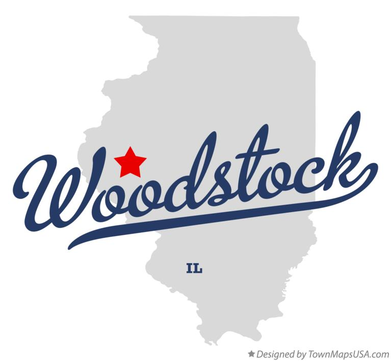 Map of Woodstock Illinois IL
