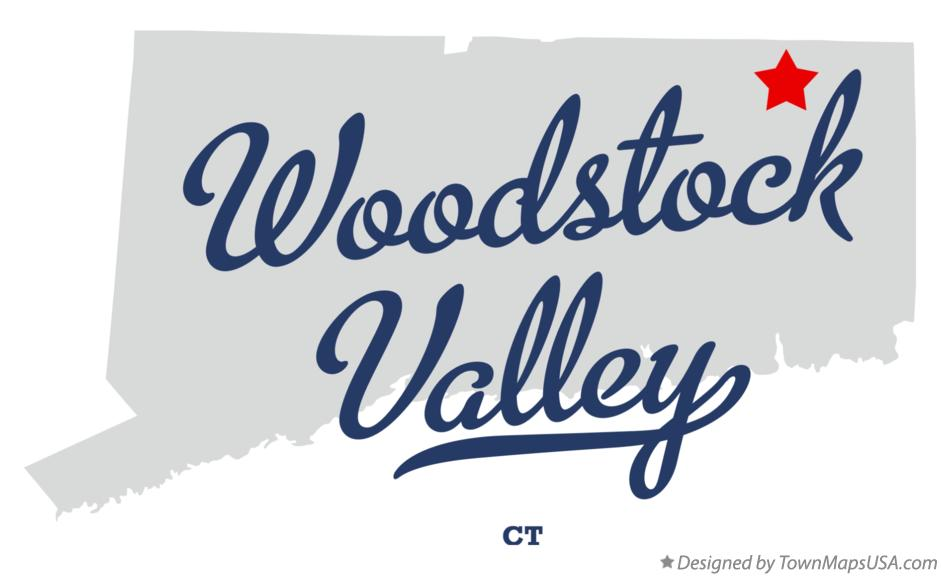 Map of Woodstock Valley Connecticut CT